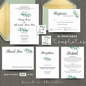 Eucalyptus Wedding Invitation Templates