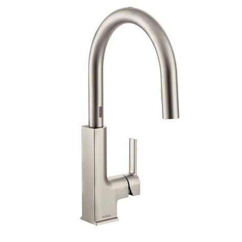moen motionsense kitchen faucets moen woodmere single handle pull sprayer kitchen
