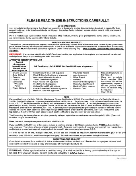 vital statistics form for divorce vital statistics certificate request idaho free download