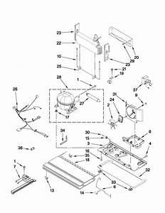 Unit Parts Diagram  U0026 Parts List For Model Kfxs25ryms0 Kitchenaid