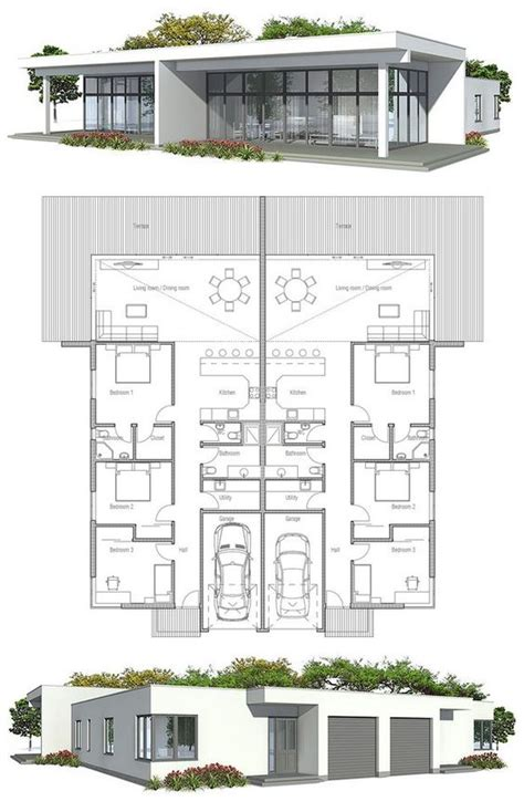 duplex floor plans for narrow lots duplex house plan to narrow lot duplex house plans