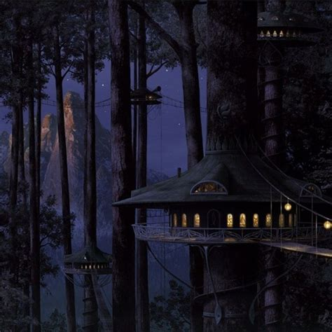 fantasy tree house ipad wallpaper ipad wallpapers