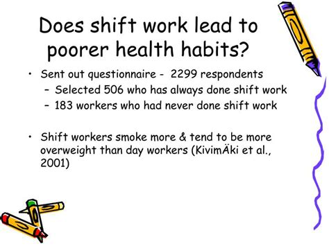 What Is Shift Lead by Ppt The Biological Effects Of Shift Work Powerpoint