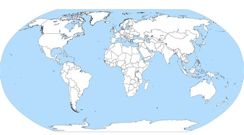 Carte Monde Vierge Vectoriel by File World Map Blank With Blue Sea Svg Wikimedia Commons