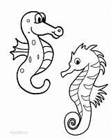Coloring Seahorse Pages Printable Seahorses Drawing Cool2bkids Getdrawings Getcolorings sketch template