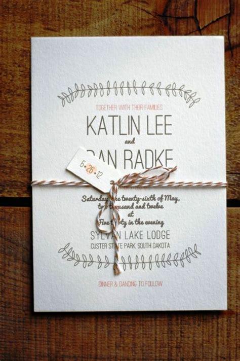 30 Simple Wedding Invitations Ideas Wohh Wedding