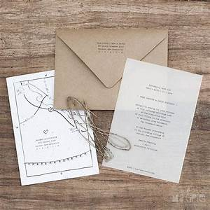 vellum and kraft paper wedding invitations with a hand With wedding invitations on vellum paper
