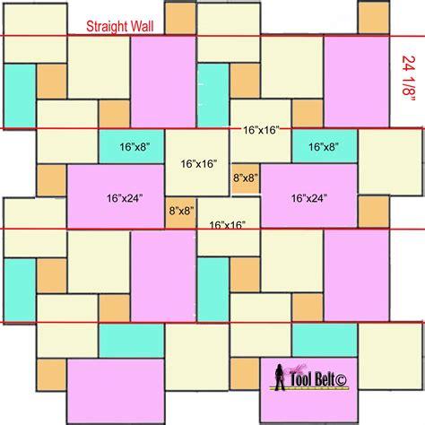 Versailles Tile Pattern Sizes by Travertine Versailles Pattern Tile Tutorial Tool Belt