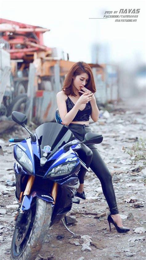 hot girl xinh dep ca tinh ben chiec sportbike  thanh