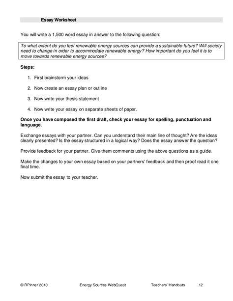 alternative energy webquest worksheet