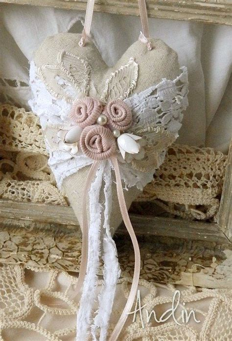 shabby fabric hearts srd 237 čko ve stylu shabby chic heart to heart pinterest shabby craft and fabric hearts