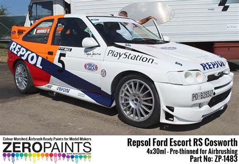 metal spray paint repsol ford rs cosworth paint set 4x30ml zp 1483