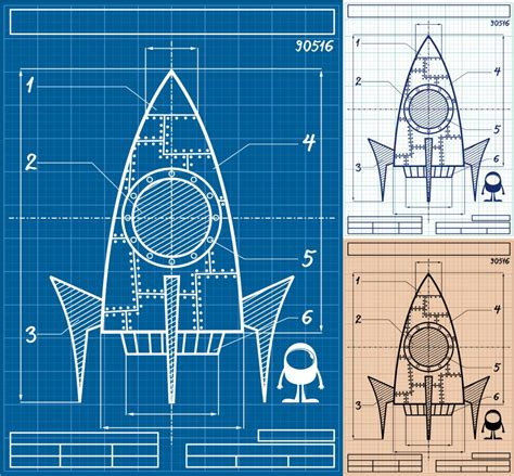 rocket blueprint cartoon easy lift  wallpaper