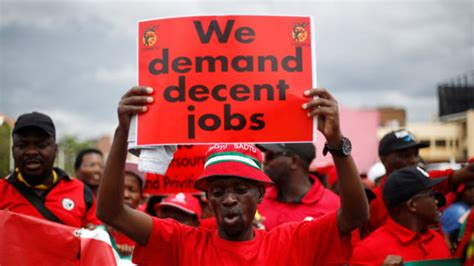thousands protest  job losses  south africa