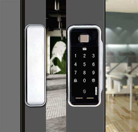 china digital glass door lock  programmable system