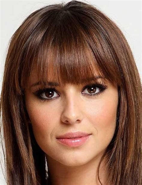 flattering hairstyles  heart shaped face