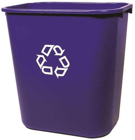 plastic trash cans medium deskside rubbermaid recycling container 28 quart