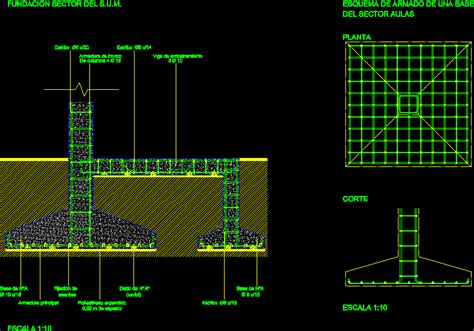 isolated footing detail dwg detail  autocad designs cad