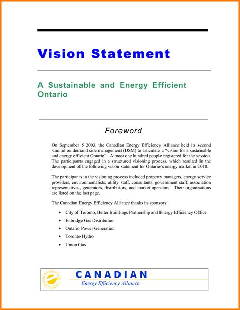 vision statement template 7 personal vision statement exles for students statement 2017