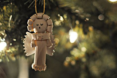 craftily ever after pasta angel ornaments