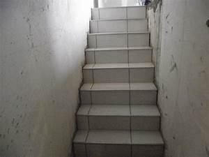 pose de carrelage sur escalier menant au sous sol With carrelage sous sol