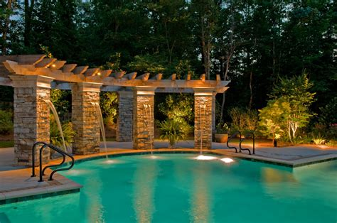 outdoor lighting around swimming pool make a splash this summer with one of a kind outdoor lighting around the pool outdoor lighting