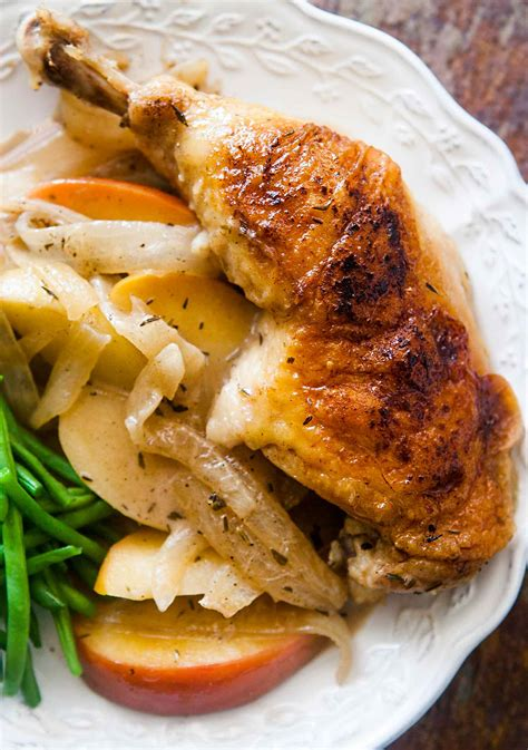 chicken normandy chicken with apples brandy onions and
