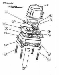 Crt Assy Diagram  U0026 Parts List For Model 60pw9383 Magnavox