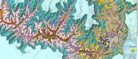 geologic map  grand canyon arizona azgs