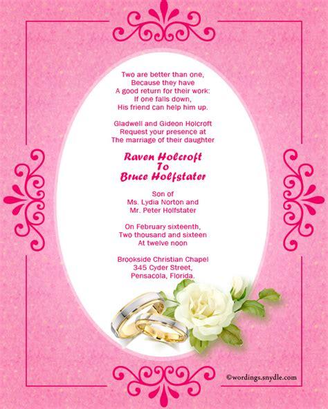 Christian Wedding Invitation Card Quotes