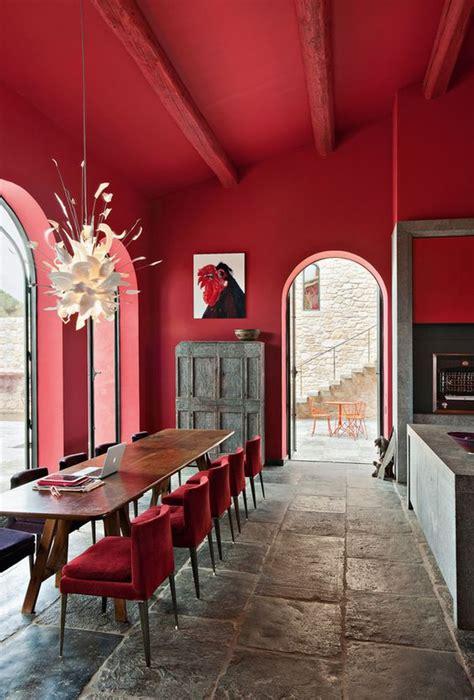 comedores en rojo decoracion de interiores fachadas