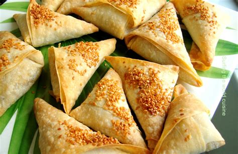 cuisine tradition a of pea and potato samosas