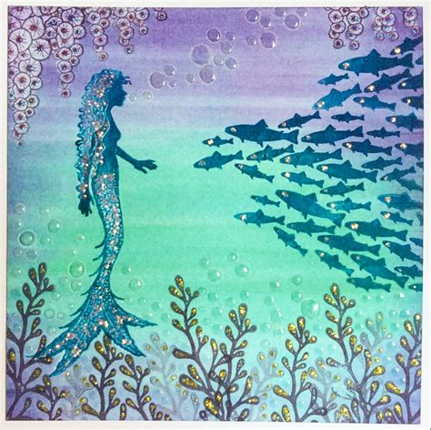 lavinia stamps clear stamp alana mermaid