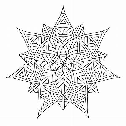 Geometric Coloring Pages Designs Printable