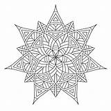 Geometric Coloring Pages Designs Printable Shapes Pattern Print Colouring Mandala Flower Star Adults Sheet Mandalas sketch template