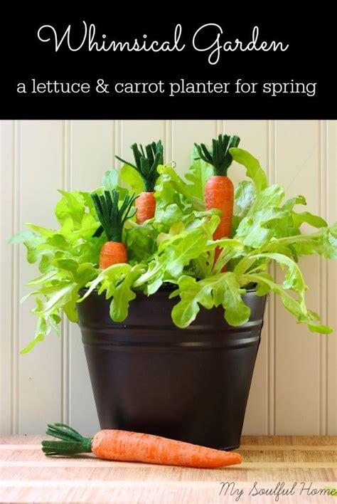 Spring Decor Lettuce Carrot Planter Home
