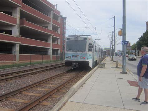 mta light rail baltimore mta light rail on howard st trolleys etc