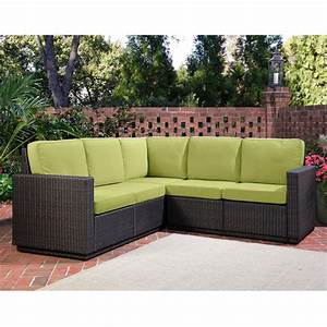 Home styles riviera outdoor 5 seat l shape sectional sofa for Sectional sofas for outdoor