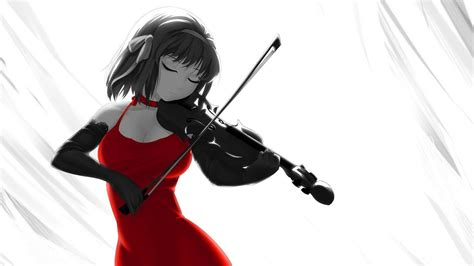 Anime Violin Wallpaper - anime violinist violin color anime hd