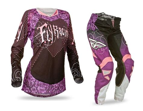 female motocross gear fly racing new mx ladies 2016 kinetic black purple womens