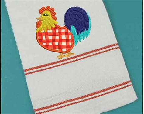 rooster applique embroidery design digital