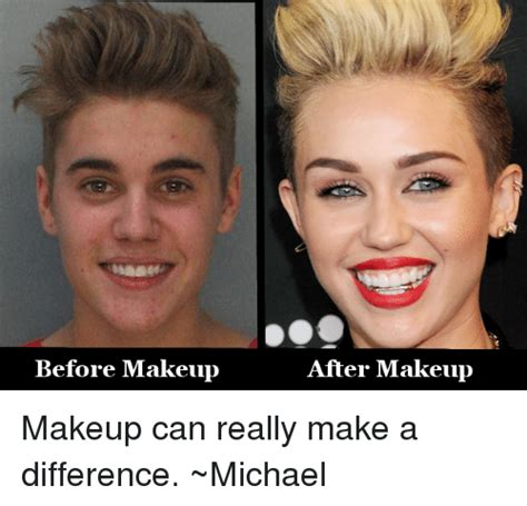 Before And After Meme - before makeup after makeup makeup can really make a difference michael makeup meme on sizzle
