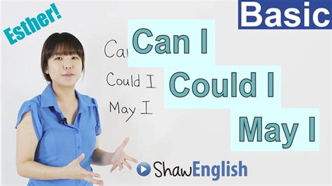 Learn English Can I  Could I  May I Youtube