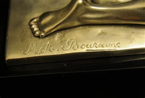 French Art Deco Bronze Diana Archer Statue Bourraine Ebay