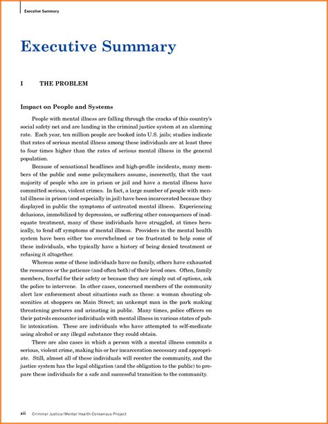 executive summary  written