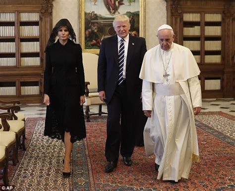 trump pope francis president meets melania lady wife vatican catholic donald church audience dama primera private poverty oriented sant affiliated