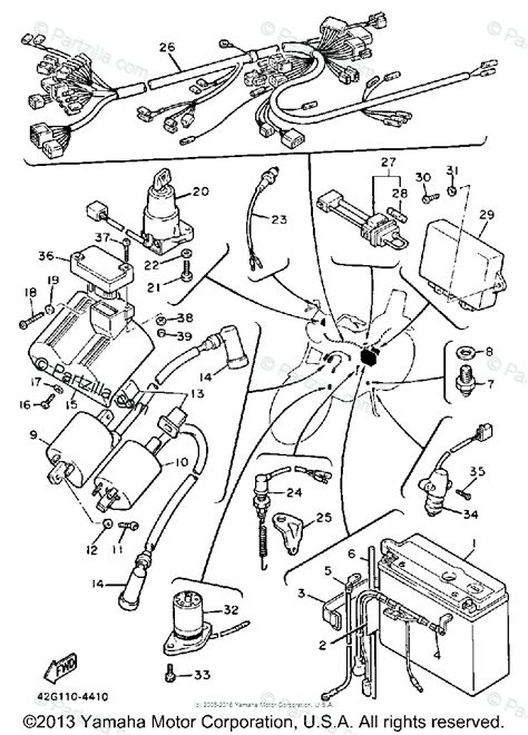 yamaha motorcycle 1985 oem parts diagram for electrical 1 partzilla
