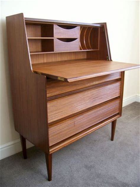 secretaire moderne bureau mid century furniture modern teak and rosewood