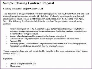 sample cleaning proposal letter proposalsamplelettercom With cleaning proposal letter