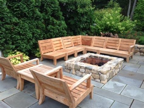 atnas grade  teak outdoor sectional sofa set